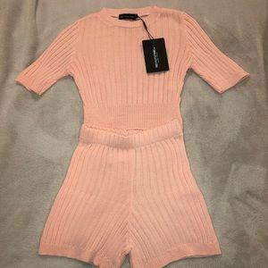 Knitted short set
